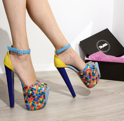 Rainbow 19 cm High Heel Platforms - Tajna Club