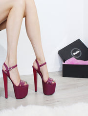 Purple Pink 19 cm Platform Sandals - Tajna Club