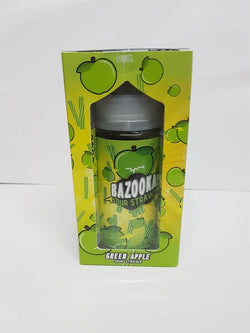 Green Sour Apple Straws By Bazooka 200Mls