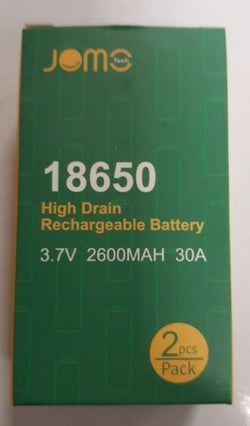 Jomo 18650 High Drain Rechargeable Battery 3.7V 2600Mah