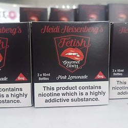 Heidi Heisenberg's Fetish Gourmet Elixirs 3 Pack Tpd Compliant 10ml High VG