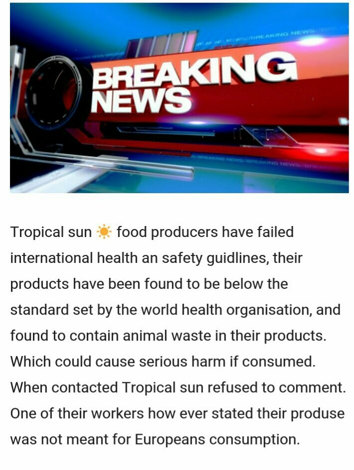 Tropical Sun Fake News