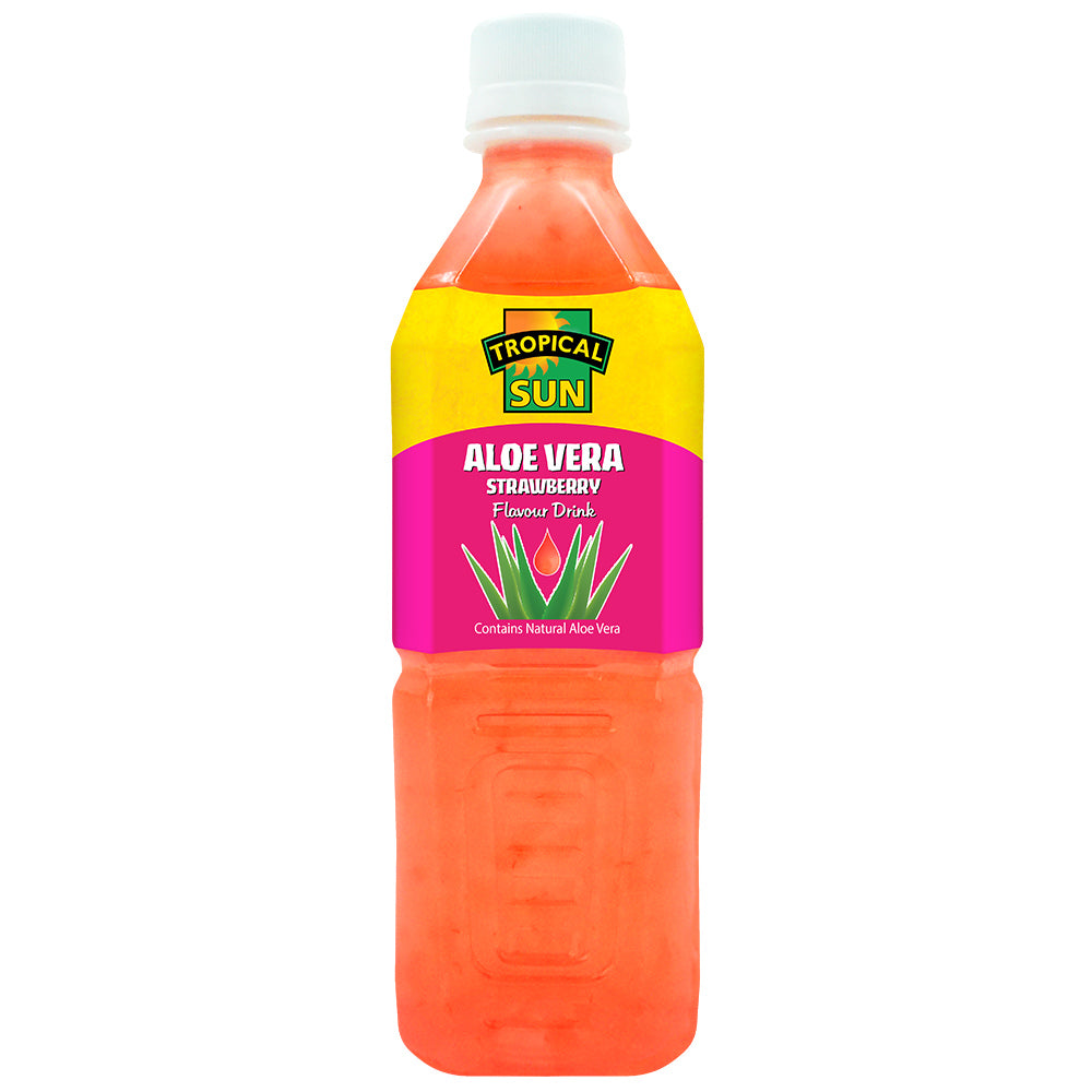 Aloe Vera Strawberry Drink