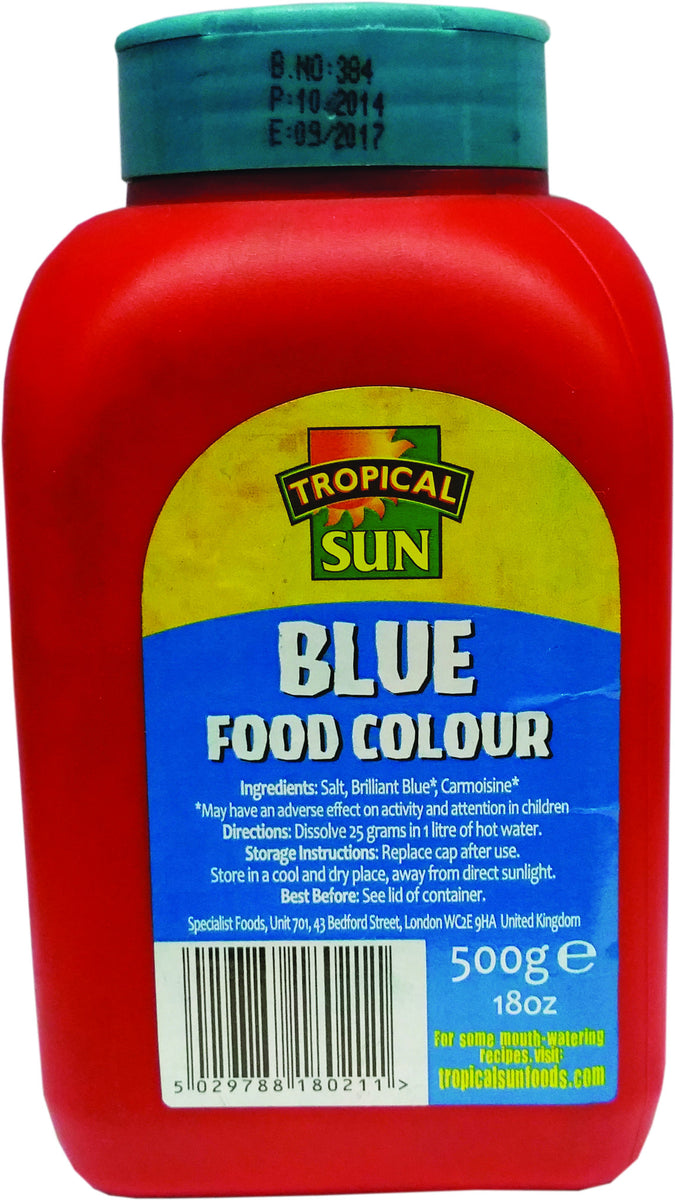 Tropical Sun Food Colouring Powder - Blue Tub 500g