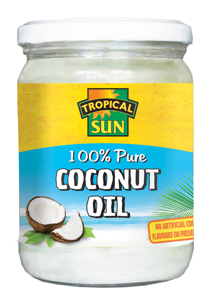 Tropical Sun Coconut Oil - 100% Pure Jar 480ml