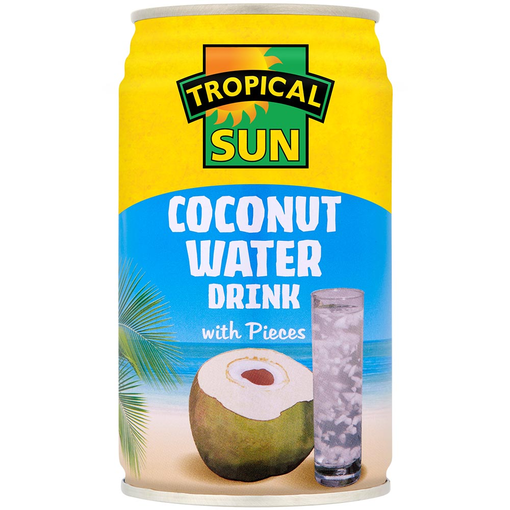 Coconut Water Drink with Coconut Pieces - Can