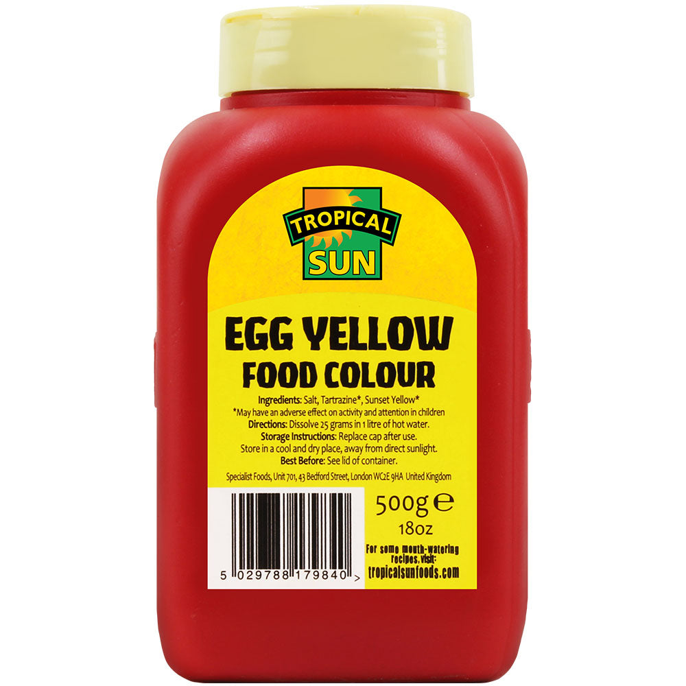 Tropical Sun Food Colouring Powder - Egg Yellow Tub 500g