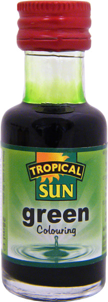 Tropical Sun Food Colouring Liquid - Green Bottle 28ml