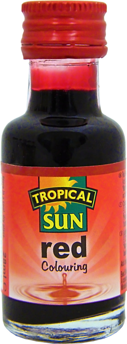 Tropical Sun Food Colouring Liquid - Red Bottle 28ml