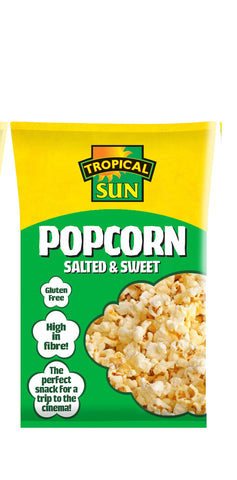 Tropical Sun Popcorn - Salted & Sweet Carton 90g