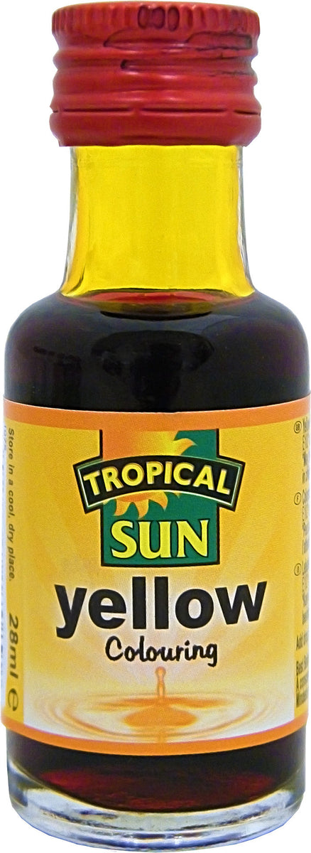 Tropical Sun Food Colouring Liquid - Yellow Bottle 28ml