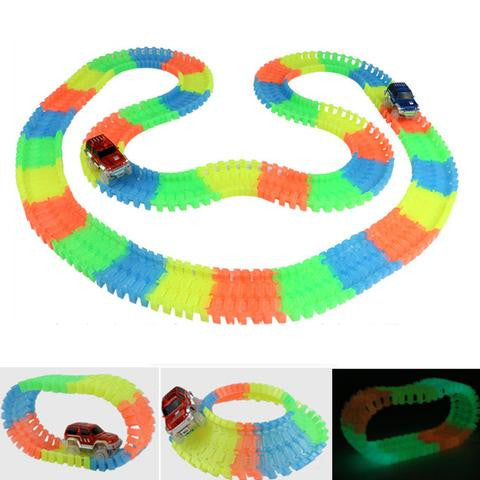 Rainbow Glowing Car Racing Set