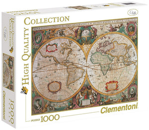 Antique Map 1000 Piece Puzzle  - Galaxy Puzzles