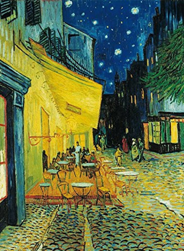 Clementoni Cafe Terrace at Night 1000 Piece Puzzle  - Galaxy Puzzles