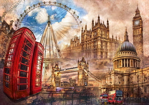 Vintage London 1500 Piece Puzzle  - Galaxy Puzzles