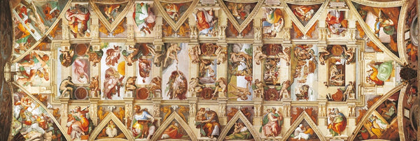 The Sistine Chapel Ceiling 1000 Piece Panorama Jigsaw Puzzle  - Galaxy Puzzles