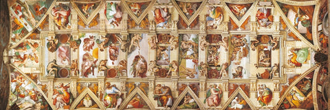 The Sistine Chapel Ceiling 1000 Piece Panorama Jigsaw Puzzle