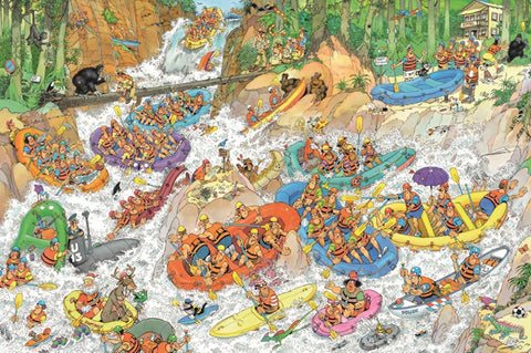 Extreme Water Rafting 1500  and 3000 Piece Puzzles