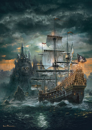The Pirate Ship 1500 Piece Puzzle  - Galaxy Puzzles