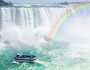 Rainbow and Tourist Boat at Niagara Falls Puzzle (2 sizes: 40, 250 pieces)  - Galaxy Puzzles