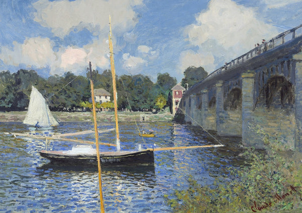Bridge at Argenteuil, 1874 Claude Monet Puzzle (2 sizes: 250 and 500 pieces)  - Galaxy Puzzles