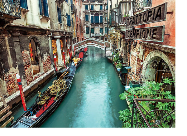 Venice Canal 1000 Piece Puzzle  - Galaxy Puzzles