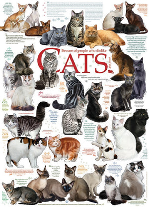 Cat Quotes 1000 Piece Puzzle  - Galaxy Puzzles