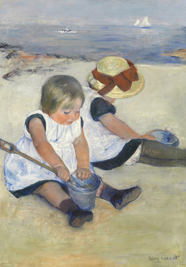 Children Playing on the Beach 250 Piece Mary Cassatt Puzzle  - Galaxy Puzzles