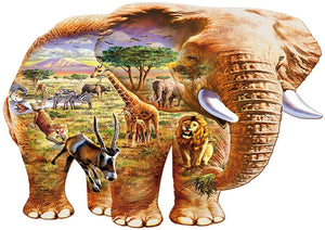 Elephant Savanna 250 Piece Puzzle  - Galaxy Puzzles