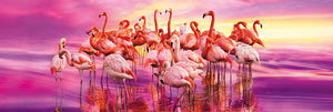 Flamingo Dance 1000 Piece Panorama Jigsaw Puzzle  - Galaxy Puzzles