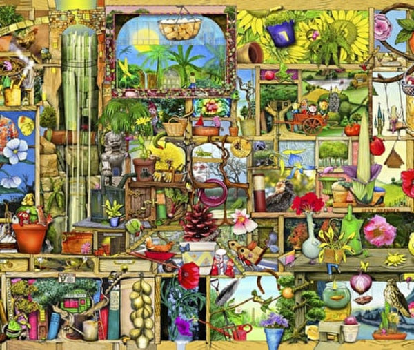 The Gardener's Cupboard (3 sizes: 40, 250 and 500 pieces)  - Galaxy Puzzles