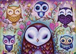 Great Big Owl 1000 Piece Puzzle  - Galaxy Puzzles