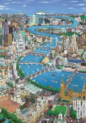 London The Thames Puzzle (2 sizes: 40, 250 pieces)  - Galaxy Puzzles
