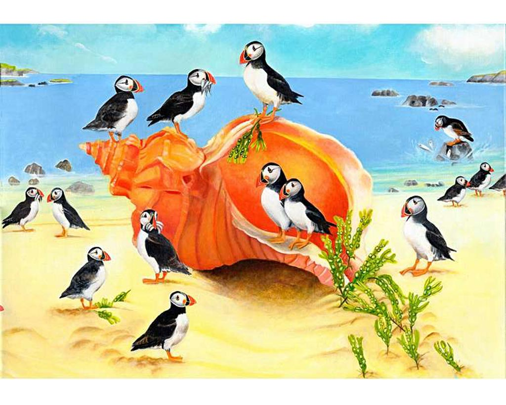 puffins-on-a-seashell-puzzle
