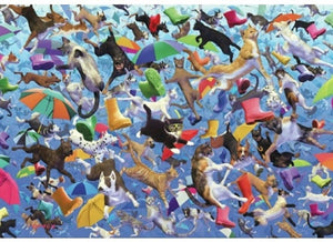 Raining Cats and Dogs Puzzle (2 sizes: 250 and 500 pieces)  - Galaxy Puzzles