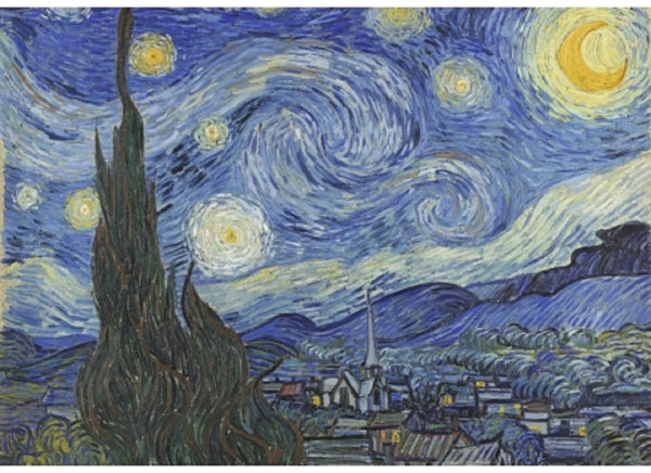 The Starry Night Vincent van Gogh Puzzle (3 sizes: 40, 250 and 500 pieces)  - Galaxy Puzzles