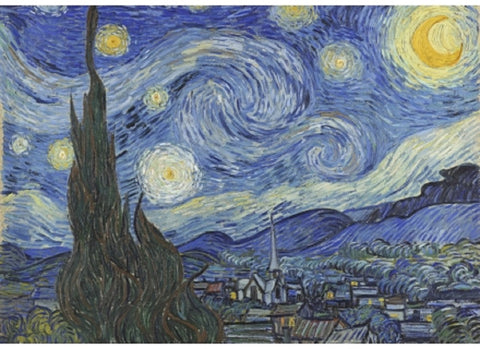 The Starry Night Vincent van Gogh Puzzle (3 sizes: 40, 250 and 500 pieces)