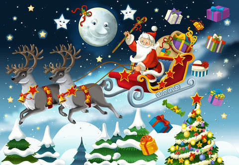The Christmas - Santa Claus - Illustration Puzzle (2 sizes: 40 and 250 pieces)
