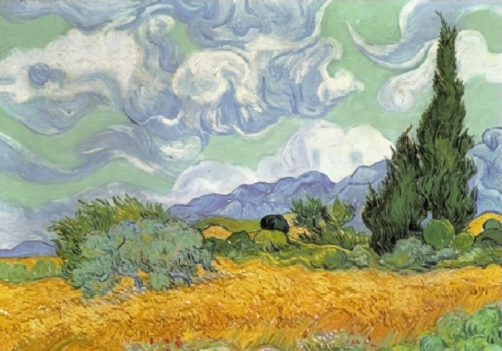 Wheat Field with Cypresses 40 Piece Puzzle