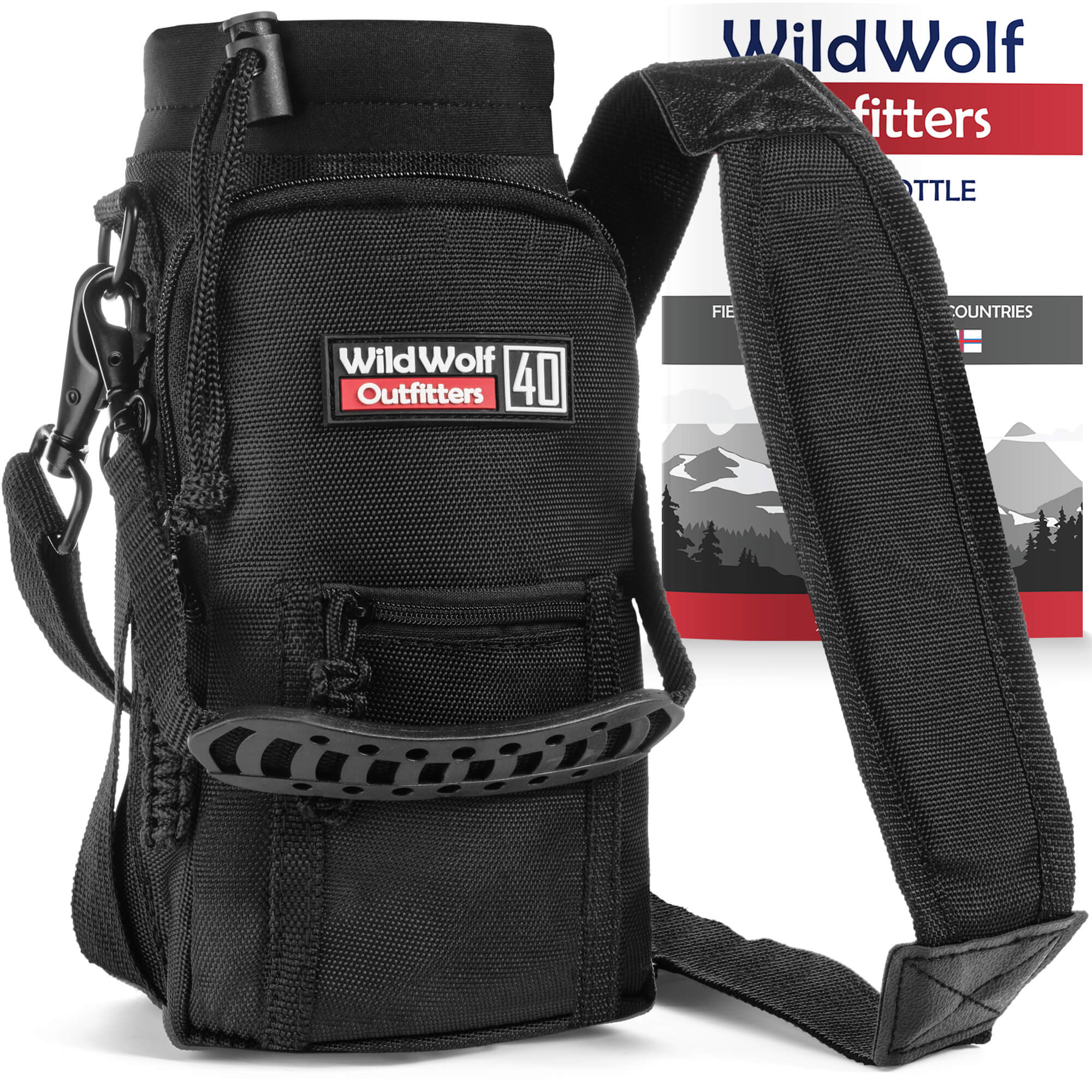 357e69191a Water Bottle Holder with Padded Shoulder Strap | Wild Wolf Outfitters -  WildWolfOutfitters