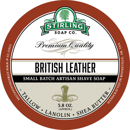 Stirling Shave Soap British Leather