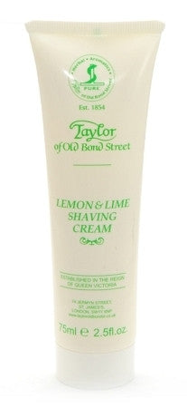 Taylor of Old Bond Street Shave Cream Tube Lemon Lime