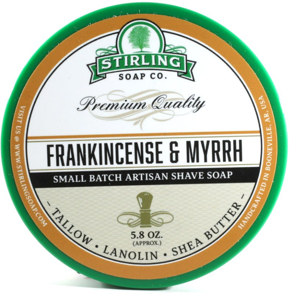 Stirling Shave Soap Frankincense & Myrrh