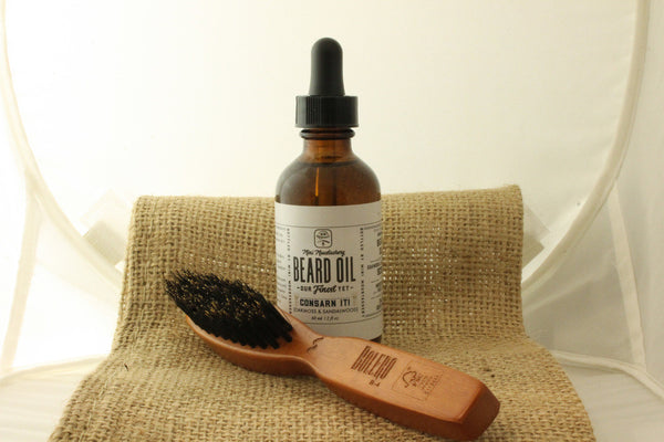 Mini Moustachery Brush & Oil