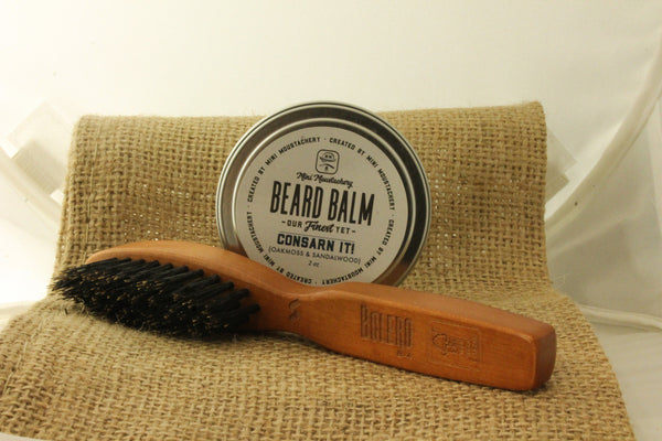 Mini Moustachery Brush & Balm