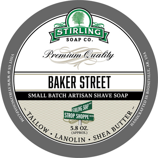 Stirling Shave Soap Baker Street
