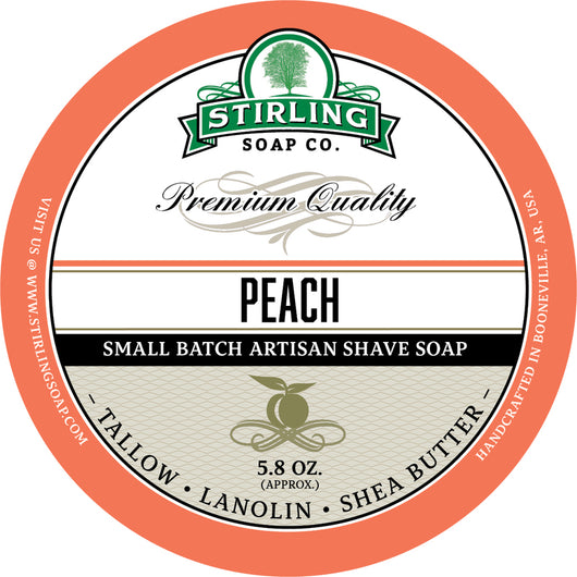 Stirling Shave Soap Peach