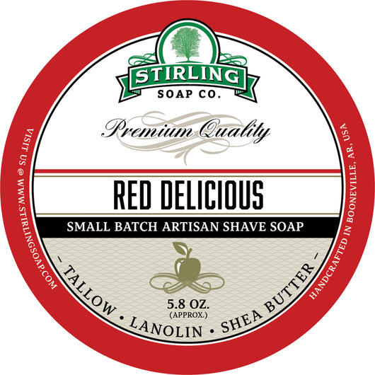 Stirling Shave Soap Red Delicious