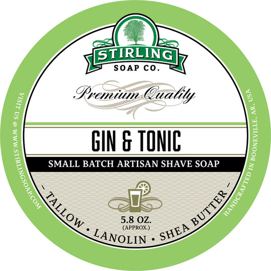 Stirling Shave Soap Gin & Tonic