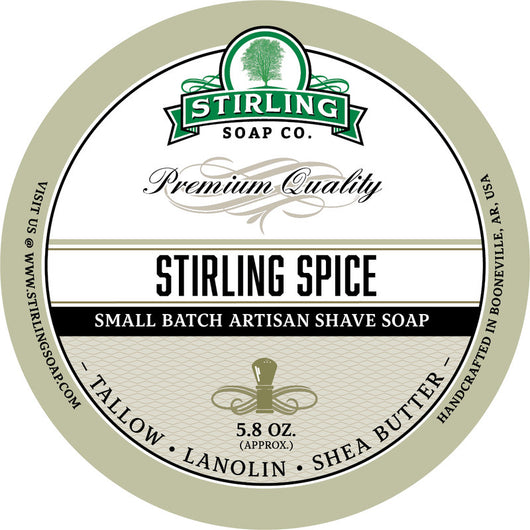 Stirling Shave Soap Stirling Spice